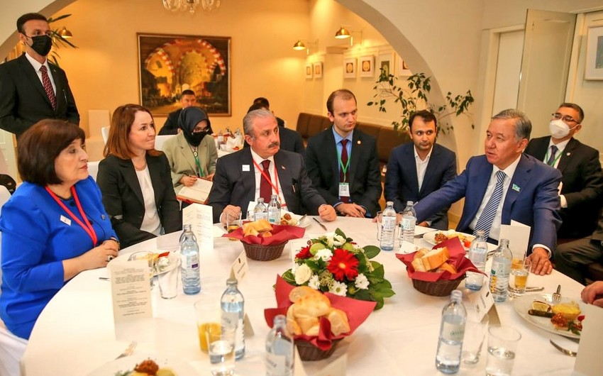 TBMM sədri TÜRKPA-ya üzv ölkələrin parlament sədrlərinin şərəfinə ziyafət verib