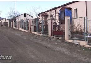 Video footage from Mollalar village of Aghdam region