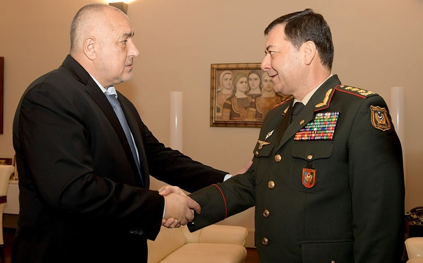 Chief of General Staff of Armed Forces of Azerbaijan meets with Prime Minister of Bulgaria