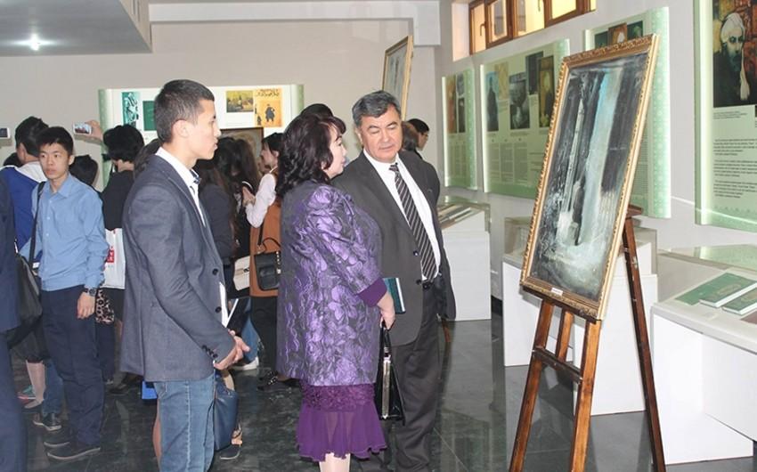 Famous Azerbaijani artist Yusif Huseynov's painting exhibition held in Uzbekistan
