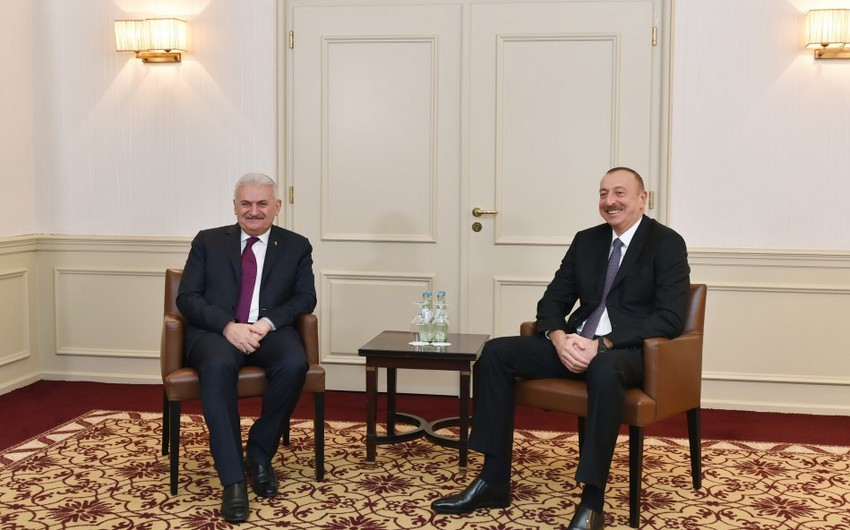 Münxendə Azərbaycan Prezidenti ilə Türkiyə baş nazirinin görüşü olub - YENİLƏNİB