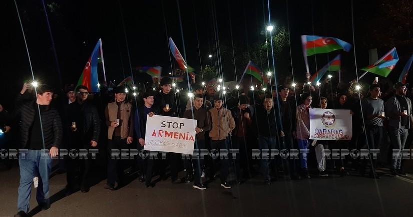 Gəncədə erməni terrorunun qurbanları yad edilib