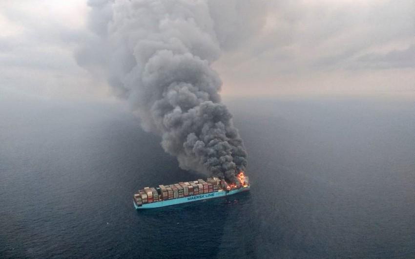 Aralıq dənizində yanan gəmidəki Azərbaycan vətəndaşları xilas edilib