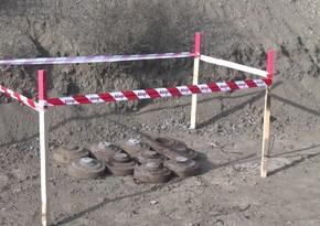 Azad olunan ərazilərdə 10 mina partladıldı - VİDEO