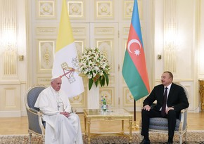 President of Azerbaijan congratulates Roman Pope