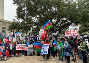 Protest against Armenian aggression in Houston