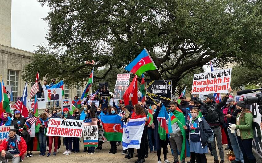 Акция против агрессии армян в Хьюстоне
