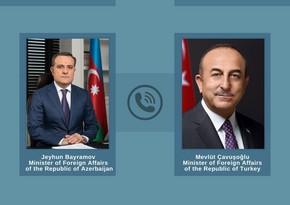 Ceyhun Bayramov və Mövlud Çavuşoğlu Türkiyə gəmisinə hücumu müzakirə ediblər