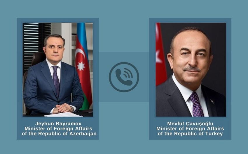 Ceyhun Bayramov və Mövlud Çavuşoğlu -