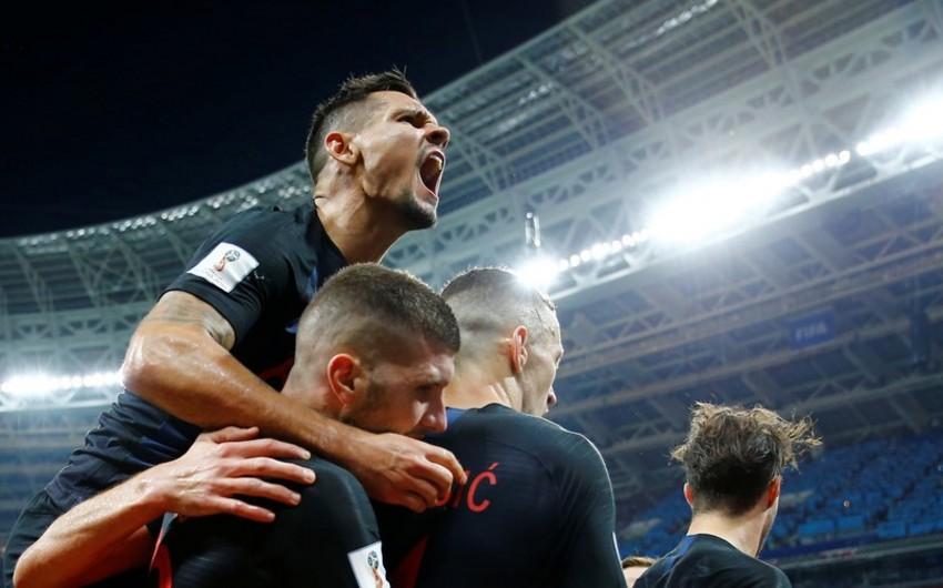 DÇ-2018: Xorvatiya millisi tarixdə ilk dəfə finala yüksəlib - VİDEO