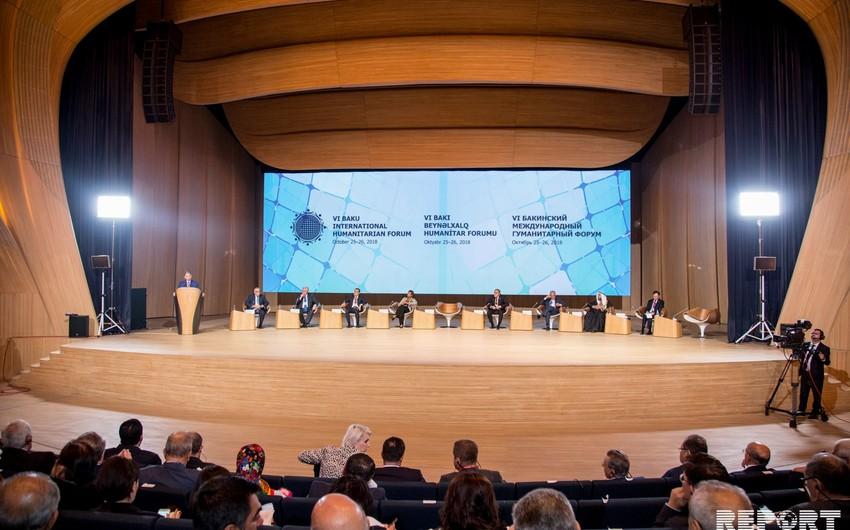 VI Bakı Beynəlxalq Humanitar Forumu işini plenar sessiyalarda davam etdirir