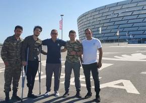 AVRO-2020: Şəhid ailələri və qazilər Bakıdakı oyunu stadionda izləyib