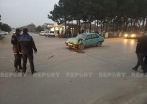 Neftçalada iki avtomobil toqquşdu