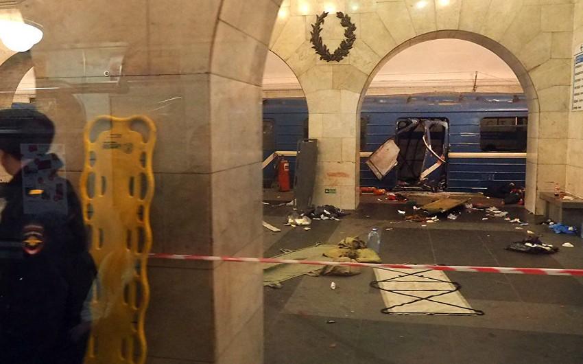 Peterburq metrosunda partlayış zamanı ölənlərin sayı 11 nəfərə çatıb