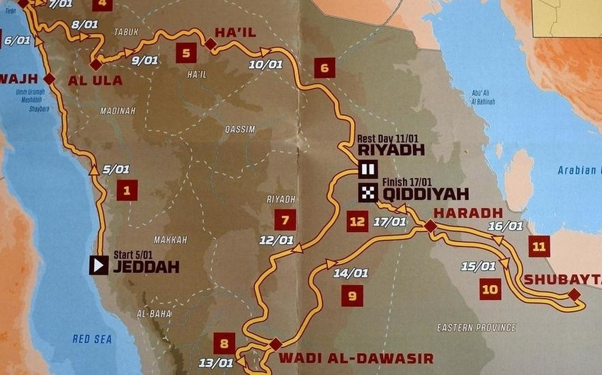 Dakar rallisinin yeni marşrutu təqdim olunub