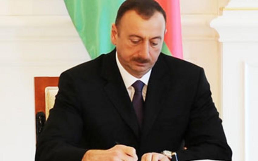 Президент Азербайджана подписал распоряжение о награждении ряда лиц