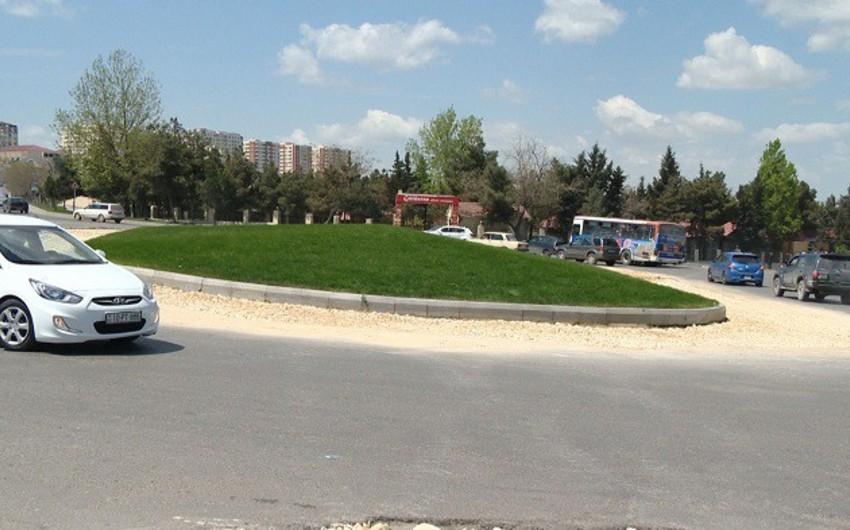 Sabunçu rayonunda yollar və səkilər genişləndirilir - FOTO