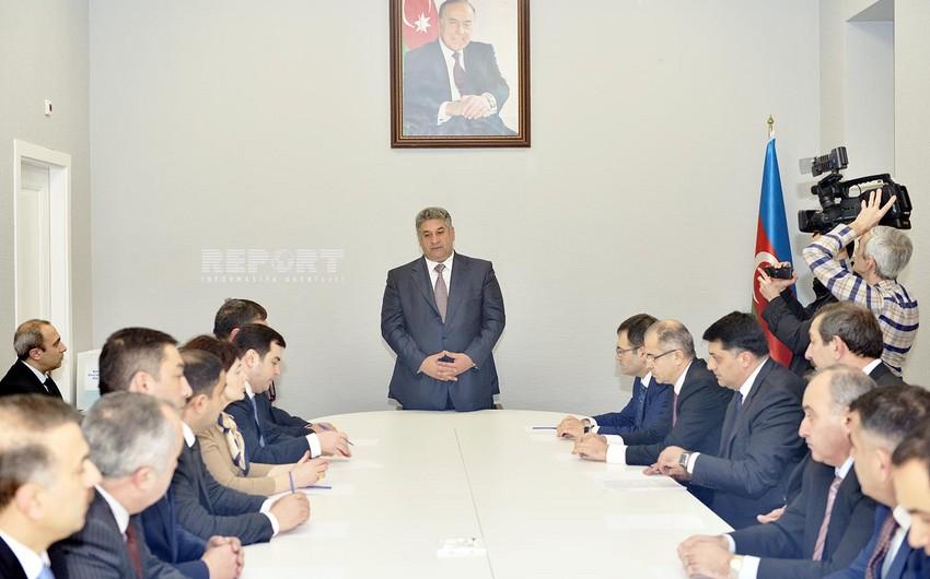 Bakı şəhər Gənclər və İdman Baş İdarəsinin yeni binasının açılışı olub - FOTOLAR