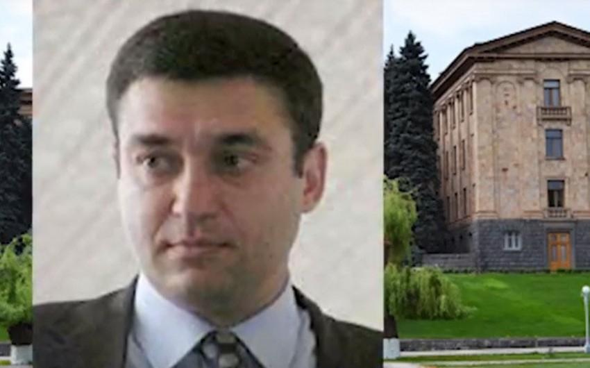 Ermənistanda keçmiş deputat həbs edilib