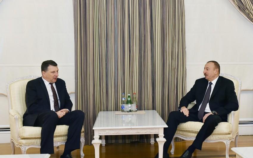 Azerbaijani and Latvian Presidents meet in Baku