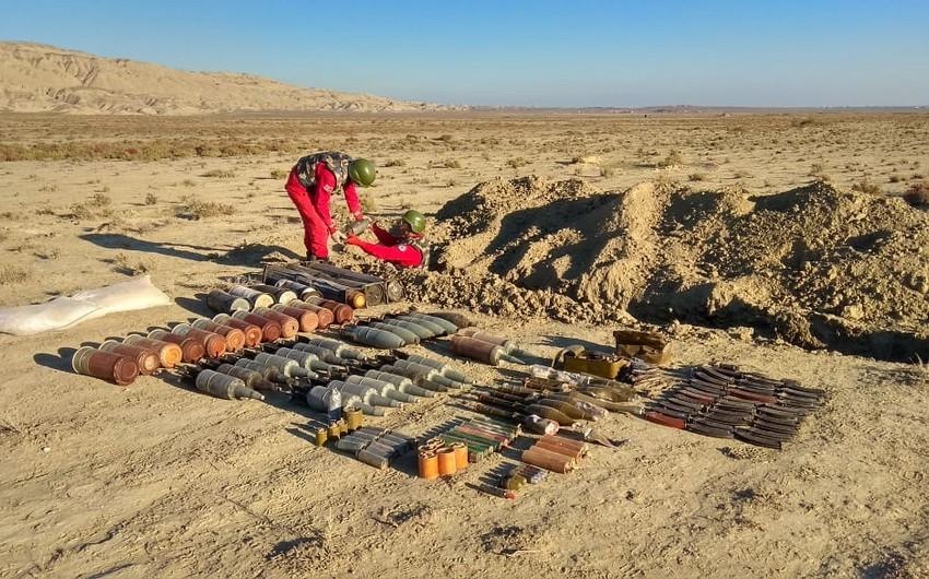 Ermənilərin ərazilərimizə atdıqları tank əleyhinə minalar, dronlar aşkarlandı