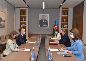 Jeyhun Bayramov receives new UNICEF Representative in Azerbaijan