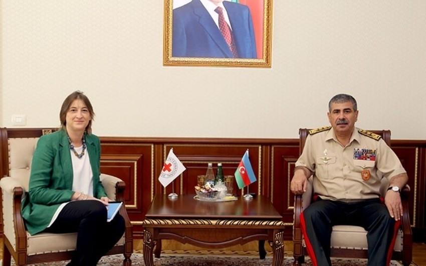 Закир Гасанов встретился с руководителем представительства МККК в Азербайджане