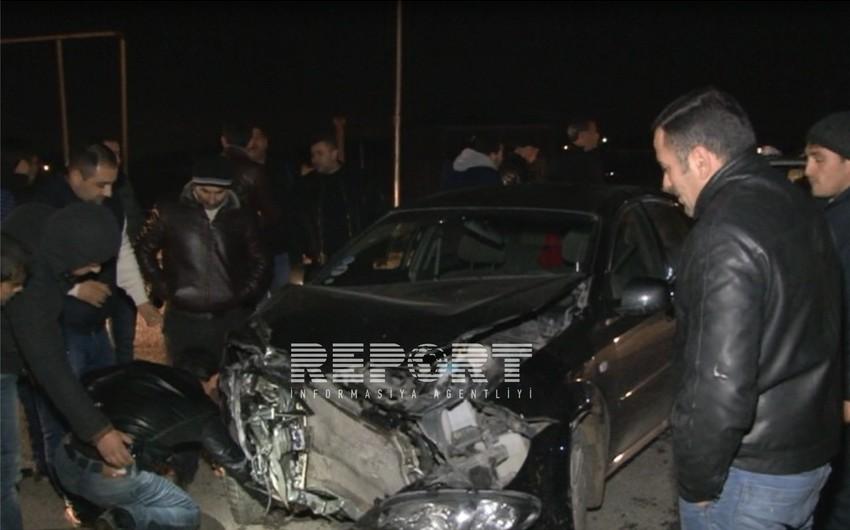 Bakı-Şamaxı yolunda üç avtomobil toqquşub - FOTO