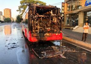 Второй автобус BakuBus сгорел за последние две недели
