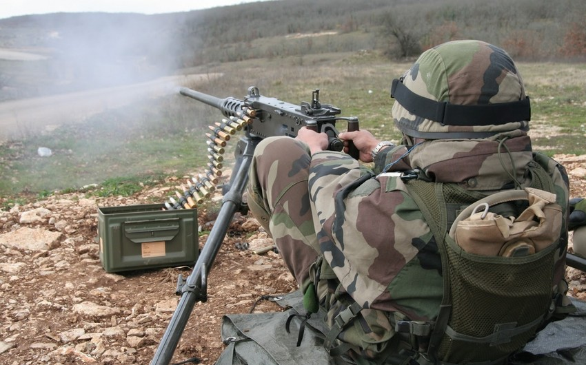 Enemy violates ceasefire using large-caliber machine guns and sniper rifles