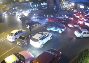 В Баку возникли пробки
