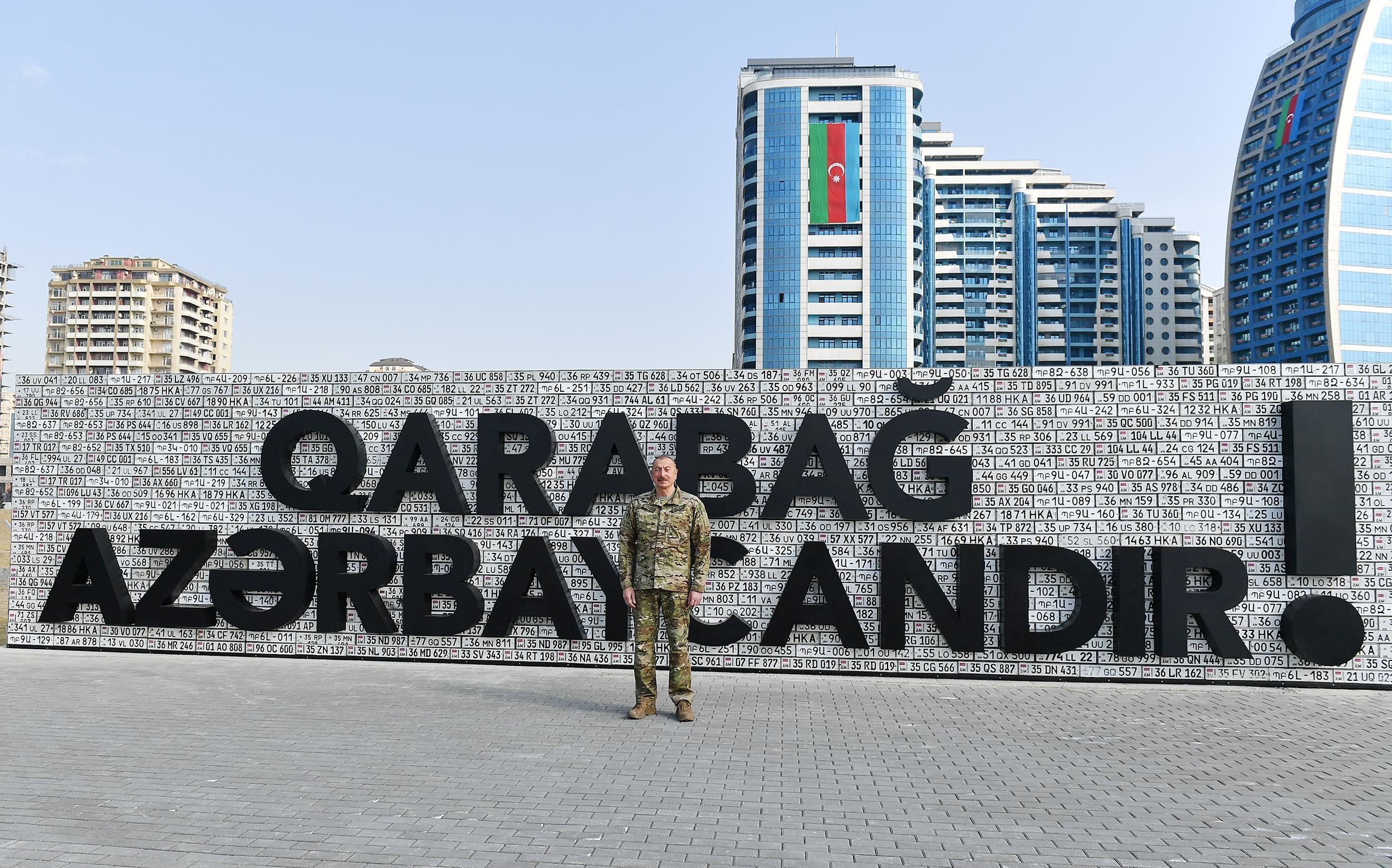Qalib Ali Baş Komandan Hərbi Qənimətlər Parkında - FOTOLAR