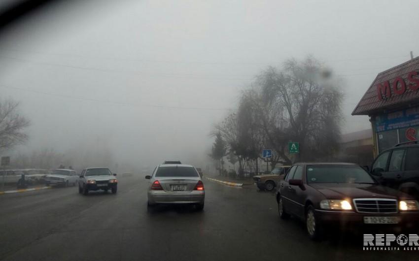 Cəlilabadda dumanlı hava yol qəzasına səbəb olub