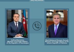 Azərbaycan və Pakistan XİN başçıları arasında telefon danışığı olub