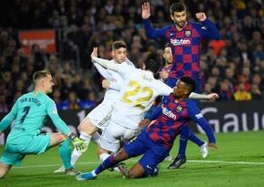 El Klasiko: Real Madrid Barselonanı səfərdə yenərək, liderliyə yüksəlib
