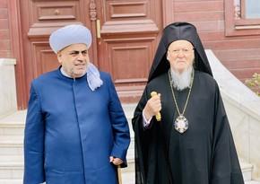 Allahşükür Paşazadə erməni katolikosunu nifrət çağırışlarından çəkinməyə çağırıb