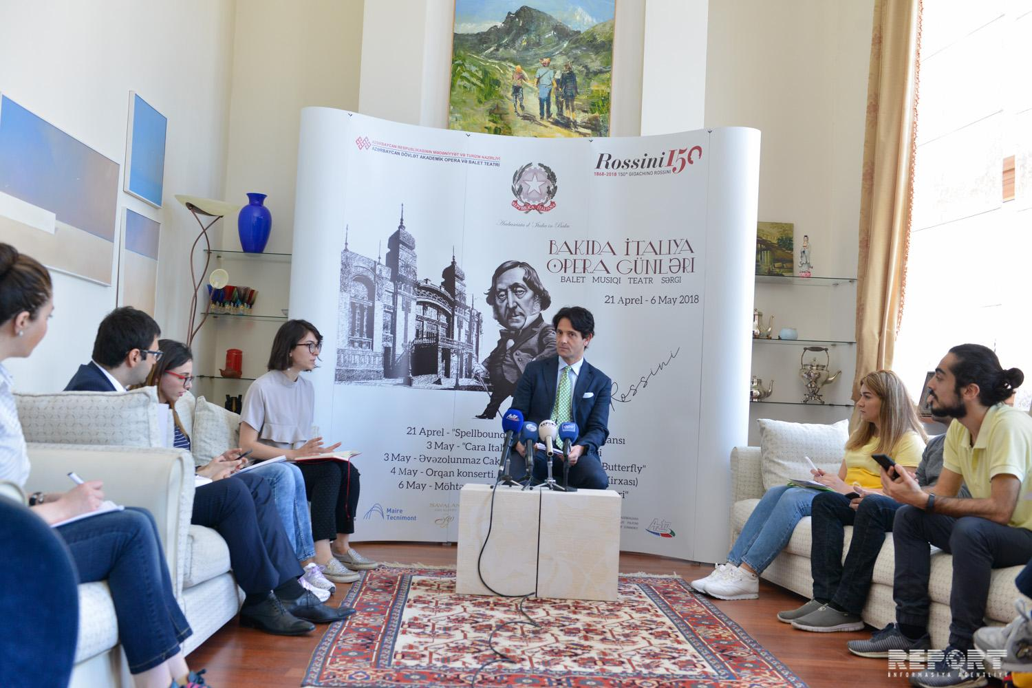 Days of Italian Opera to be held in Azerbaijan