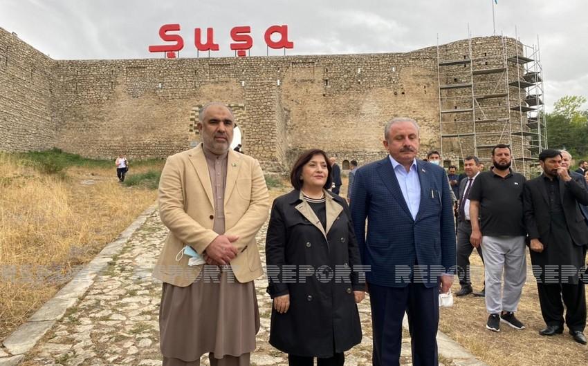 Parliamentary speakers of Azerbaijan, Turkey and Pakistan leaves for Fuzuli