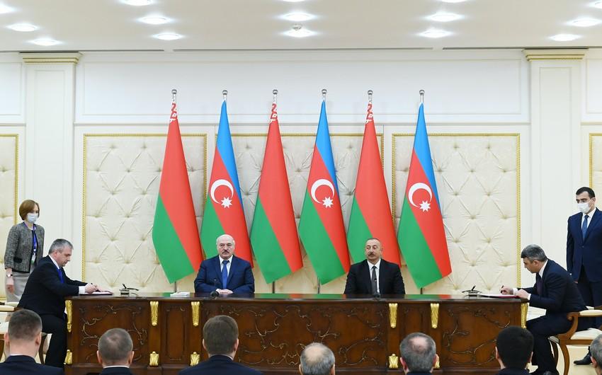 Azerbaijan, Belarus sign bilateral documents