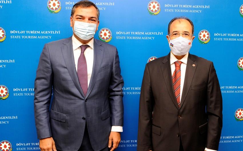 Azərbaycanla Türkiyə arasında turizm sahəsində əməkdaşlıq müzakirə olunub