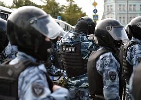 Çeçen nümayişçi Moskvada OMON-nun 4 əməkdaşını döydü