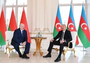 Azərbaycan və Belarus prezidentlərinin geniş tərkibdə görüşüolub