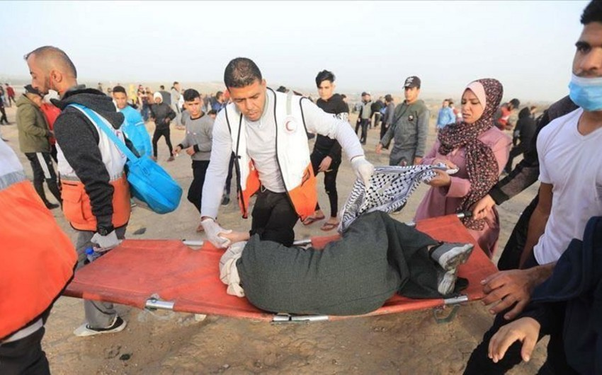 Qəzzada toqquşmalar zamanı 5 fələstinli yaralanıb