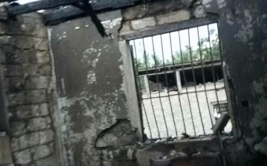 Tərtərdə şəhid ailəsinin evi yanıb - FOTO - VİDEO