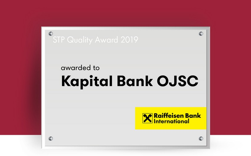 """Raiffeisen Bank International"" ""Kapital Bank""ı mükafatlandırıb"