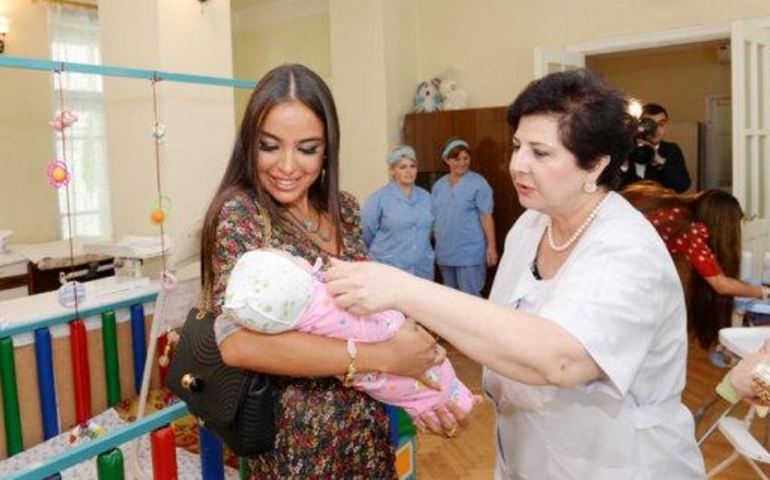 Heydər Əliyev Fondunun vitse-prezidenti bir sıra uşaq evlərinə baş çəkib