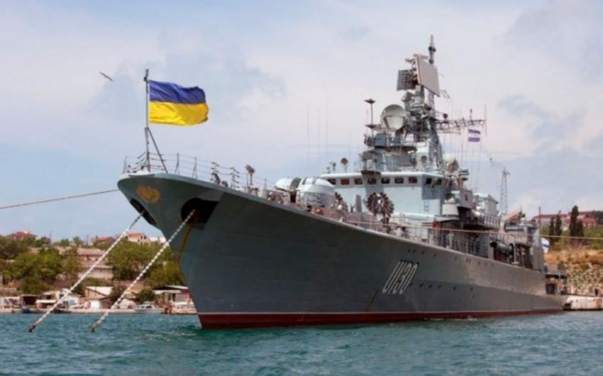 Ukraynanın Hərbi Dəniz Qüvvələri Rusiyanı bu ölkənin gəmilərinə atəş açmaqda ittiham edib