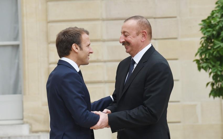 Azərbaycan və Fransa prezidentləri arasında görüş olub - YENİLƏNİB
