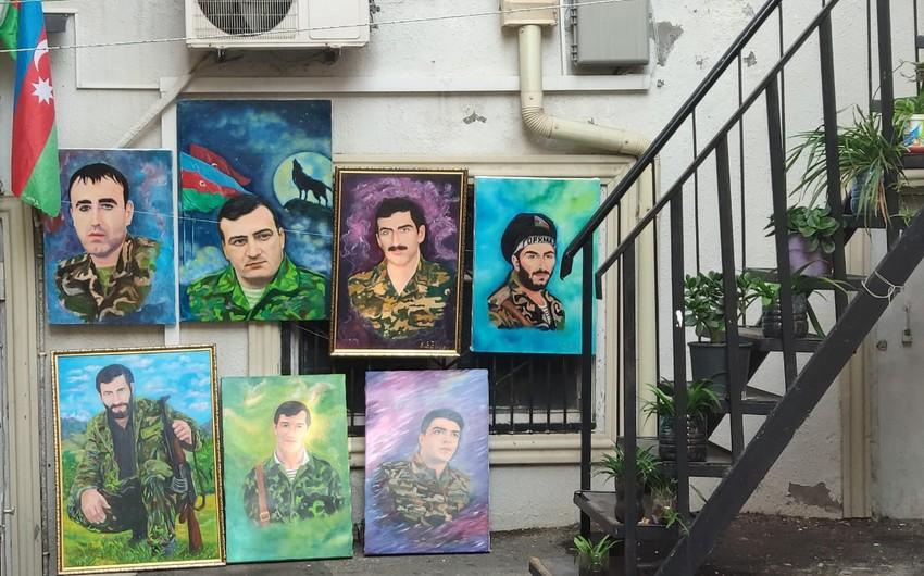 Azərbaycanlı rəssam şəhidləri tablosunda canlandırıb