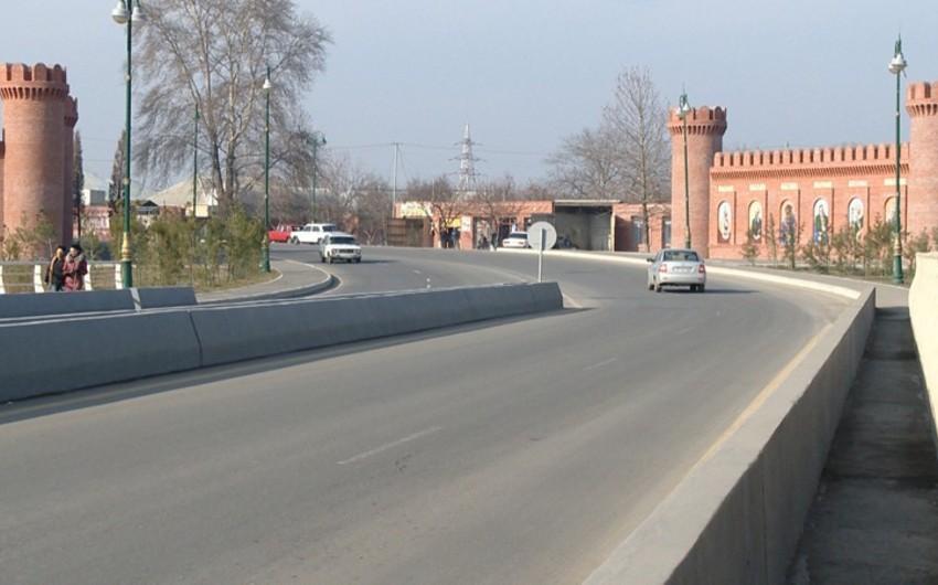 Gəncədə avtomobil yolunun tikintisi yekunlaşıb - VİDEO